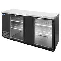 Nor-Lake NLBB69G 69 1/8 inch Black Glass Door Back Bar Refrigerator