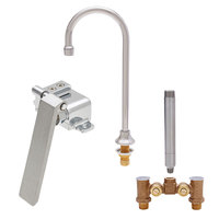Fisher 23116 Deck Mounted Faucet with Temperature Control Valve, 12 inch Rigid Gooseneck Nozzle, 2.20 GPM Aerator, and Knee Valve