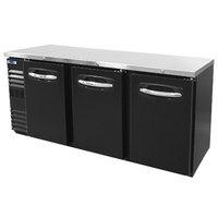 Nor-Lake NLBB72N 72 1/8 inch Black Solid Door Narrow Back Bar Refrigerator