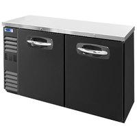 Nor-Lake NLBB60N 60 1/8 inch Black Solid Door Narrow Back Bar Refrigerator