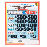 Thank a Vet 5 Window Pull-Tab Tickets - 4000 Tickets per Deal - $3000 Total Payout