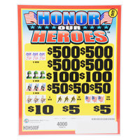 Honor Our Heroes 5 Window Pull-Tab Tickets - 4000 Tickets per Deal - $3000 Total Payout