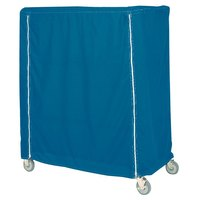 Metro 24X60X74UCMB Mariner Blue Uncoated Nylon Shelf Cart and Truck Cover with Zippered Closure 24 inch x 60 inch x 74 inch