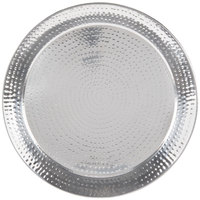 American Metalcraft HMRST2001 20 inch Round Hammered Stainless Steel Serving Tray
