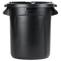 Rubbermaid BRUTE 10 Gallon Black Executive Trash Can and Lid