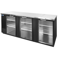 Nor-Lake NLBB95G 95 1/4 inch Black Glass Door Back Bar Refrigerator