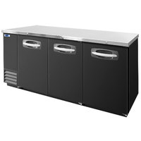 Nor-Lake NLBB79 80 3/4 inch Black Solid Door Back Bar Refrigerator