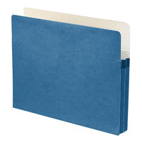 Smead 73215 Letter Size File Pocket - 1 3/4 inch Expansion with Straight Cut Tab, Blue