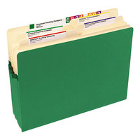 Smead 73226 Letter Size File Pocket - 3 1/2 inch Expansion with Straight Cut Tab, Green
