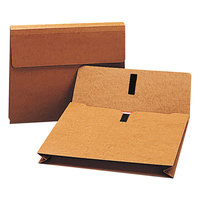 Smead 77145 Legal Size Expansion Wallet - 2 inch Expansion with Hook and Loop Closure, Redrope