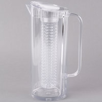 Tablecraft PP322FIN 2 Qt. Plastic Pitcher with Infusion Chamber