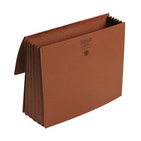 Smead 71073 Letter Size Expansion Wallet - 5 1/4 inch Expansion with Cloth Tie Closure, Redrope