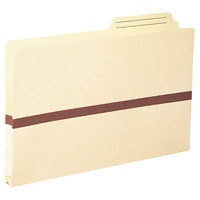 Smead 76487 Legal Size Tyvek® Reinforced File Pocket - 1 inch Expansion with Printed 2/5 Cut Right Position Tab, Manila