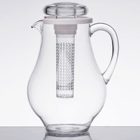 Tablecraft 328FIN 3 Qt. Polycarbonate Pitcher with Infusion Chamber