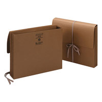 Smead 71053 Letter Size Expansion Wallet - 3 1/2 inch Expansion with Cloth Tie Closure, Redrope