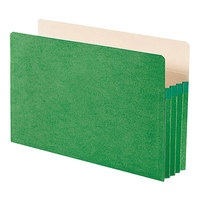 Smead 74226 Legal Size File Pocket - 3 1/2 inch Expansion with Straight Cut Tab, Green