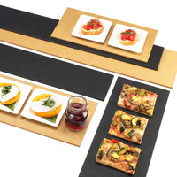 Cal-Mil 1530-616-13 Black Rectangular Flat Bread Serving / Display Board - 16 inch x 6 inch x 1/4 inch