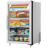 True GDM-07F-HC~TSL01 White Countertop Display Freezer with Swing Door