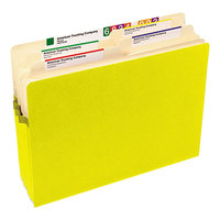 Smead 73233 Letter Size File Pocket - 3 1/2 inch Expansion with Straight Cut Tab, Yellow
