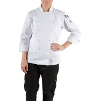 Chef Revival LJ025-2X Chef-Tex Size 20 (2X) White Customizable Ladies Cuisinier Chef Jacket