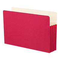Smead 74231 Legal Size File Pocket - 3 1/2 inch Expansion with Straight Cut Tab, Red