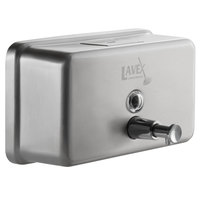 Lavex Janitorial 40 oz. Stainless Steel Surface Mounted Horizontal Soap Dispenser