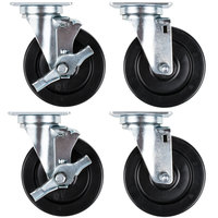Vulcan Equivalent CASTERS-RR4 5 inch Swivel Plate Casters - 4/Set