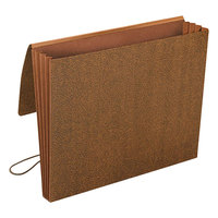Smead 71353 Letter Size Expansion Wallet - 3 1/2 inch Expansion with Flap and Cord Closure, Redrope