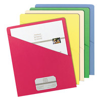 Smead 75425 Organized Up Letter Size Slash-Style File Jacket - No Expansion, Assorted Color - 25/Pack