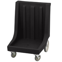 Cambro CD2020HB110 Black Camdolly Dish Rack / Glass Rack Dolly with 10 inch Rear Wheels - 350 lb.