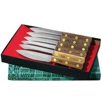 Dexter-Russell 20041 Traditional 6-Piece Steak Knife Set with Walnut Handles