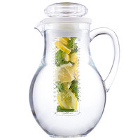 Tablecraft 319FIN 2 Qt. Polycarbonate Pitcher with Infusion Chamber
