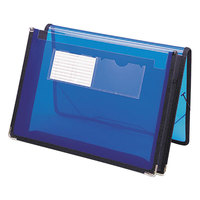 Smead 71953 Letter Size Poly Expansion Wallet - 2 1/4 inch Expansion with Flap and Cord Closure, Blue