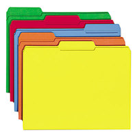 Smead 11943 Letter Size File Folder - Standard Height with 1/3 Cut Assorted Tab, Assorted Colors   - 100/Box