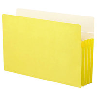 Smead 74233 Legal Size File Pocket - 3 1/2 inch Expansion with Straight Cut Tab, Yellow