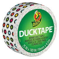 Duck Tape 283263 Ducklings 3/4 inch x 5 Yards Colored Candy Dots Duct Tape