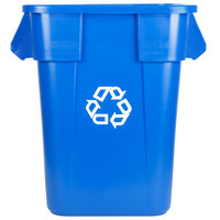 Rubbermaid FG353673BLUE BRUTE 40 Gallon Square Blue Recycling Can