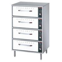 Hatco HDW-2R2 White Granite Freestanding Split Four Drawer Warmer - 1290W, 120V