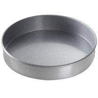 Chicago Metallic 48055 8 inch x 1 1/2 inch Glazed Aluminized Steel Round Customizable Cake Pan
