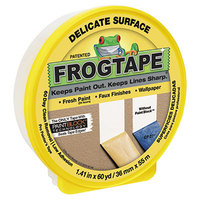 Duck Tape 280221 FROGTAPE 1 7/16 inch x 60 Yards Yellow Painter's Tape