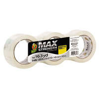 Duck Tape 241510 MAX 1 7/8 inch x 54 5/8 Yards Clear Packaging Tape   - 3/Pack