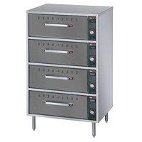 Hatco HDW-2R2 Gray Granite Freestanding Split Four Drawer Warmer - 1290W, 120V