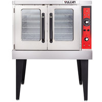 Vulcan VC5ED-12D1 Single Deck Full Size Electric Convection Oven With Legs - 240V, 3 Phase, 12 kW