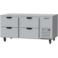 Beverage-Air UCRD67AHC-4 67 inch Compact Undercounter Refrigerator with 4 Drawers