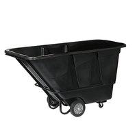 Continental 5849BK 1.5 Cubic Yard Black Tilt Truck / Trash Cart (1200 lb.)