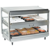 Nemco 6480-36S Stainless Steel 36 inch Slanted Double Shelf Merchandiser - 120V