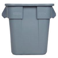 Rubbermaid FG352600GRAY BRUTE 28 Gallon Square Gray Trash Can