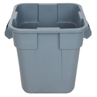 Rubbermaid FG352600GRAY BRUTE 28 Gallon Square Gray Trash Can