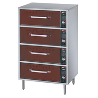 Hatco HDW-2R2 Antique Copper Freestanding Split Four Drawer Warmer - 1290W, 120V