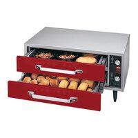 Hatco HDW-1R2 Warm Red Freestanding Split Two Drawer Warmer - 690W, 120V